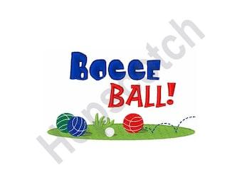 Bocce Ball - Machine Embroidery Design