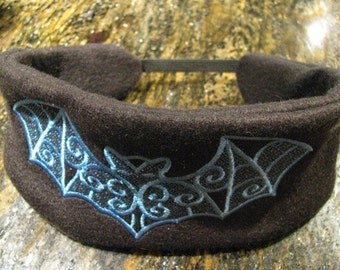 Black and Blue Batty Headband