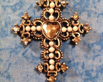 Heart Cross Necklace