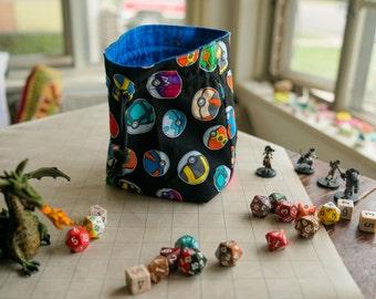 Pokemon Inspired Dice Bag - Poké Ball