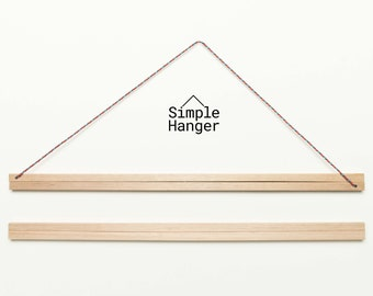 Simple Hanger S2 (425mm* wide) —A lightweight, low profile, magnetic poster and textile hanger.