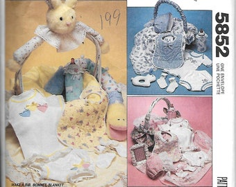 McCall's 5852      Infants Basket and Gift Package     Uncut