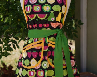 NEW - Apron - Vintage Style - Mixed Fruits