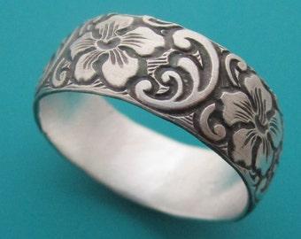 Dogwood Flower Silver Ring