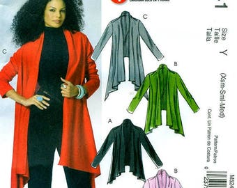McCall's 5241 One Hour Flared Open Front Cardigan ©2006 English & Spanish Instructions