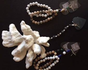 Small wooden heart rosary collection