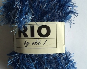RIO # 213 OKE blue fancy yarn