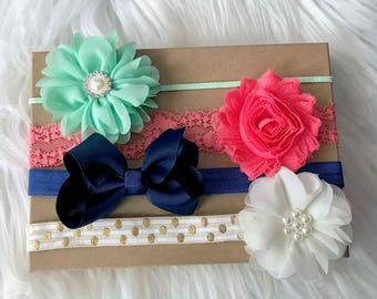 Baby Headband Gift Set, Newborn Headband, Baby Headband Set, Baby Headband, Baby Girl Headband, Infant Headband, Newborn Hair Bows, Baby