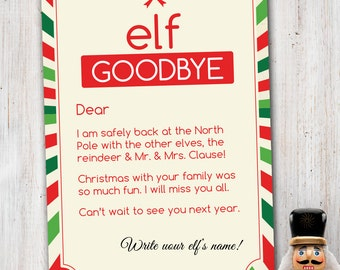 Elf goodbye letter Etsy