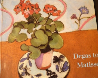 Art Book - Degas to Matisse - 1988 Collection of Harvard University - gift for art lovers - Impressionist art - Fantastic