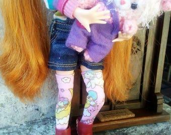 Little twin stars socks for blythe