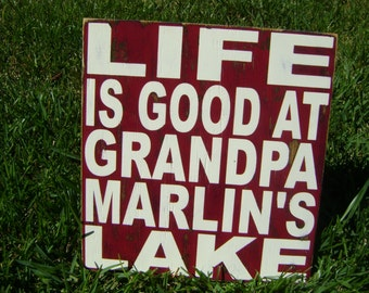 Life is Good, Life is Better, Rustic Sign, Family Sign, Personalized