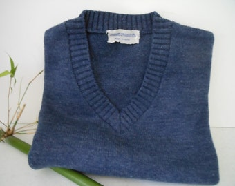 Sweater Sale MUNSINGWEAR Pullover Sweater Denim Blue Vtg M
