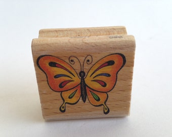 Butterfly - Sweet - Vintage Rubber Stamp - Card Making - Crafts ~ 161222