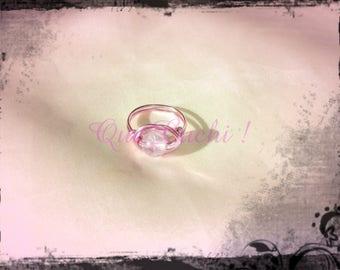 Rose Quartz Aluminum Ring