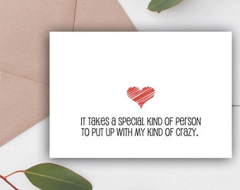 Funny Valentines Card, Anniversary Card, Instant Download, Valentine Card, Funny Valentine, Card for Boyfriend, Card for Husband, Funny Card