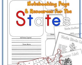 States Notebooking Page and Resources