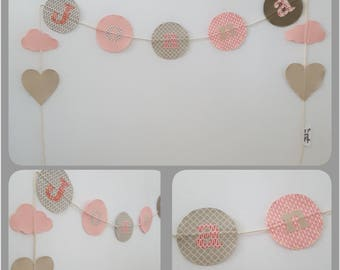 Fabric name Garland - handmade