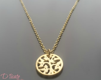 Golden Tree charm necklace