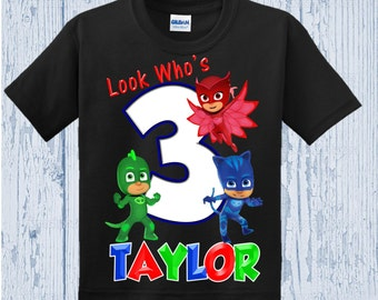PJ Masks Birthday Shirt - PJ Masks Shirt - Other Colors Available