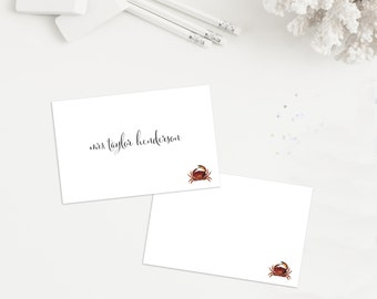 Crab Place Cards - Set of 10