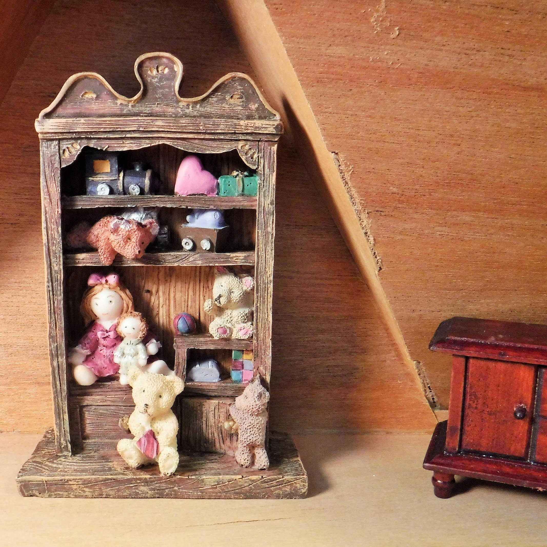 zoom Doll House Miniature Shelf Dollhouse Furniture