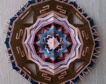 Western - Yarn Mandala, Ojo de Dios, Amulet for the Free-Spirited Adventurer, 11,2' (28,5 cm), 26 cm (10') Cafe Spa Home Interior Decor