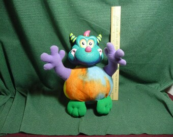 """Toy, Happi Glumps  """"Willynilly"""" Dragon/Monster Plush by Russ Bearie"""