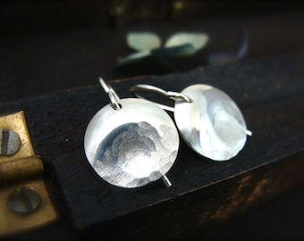 thumbprint ... sterling silver earring