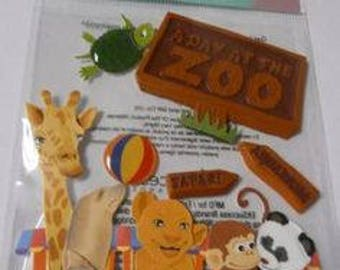 Jolee's Boutique A Day at the Zoo Dimensional Stickers