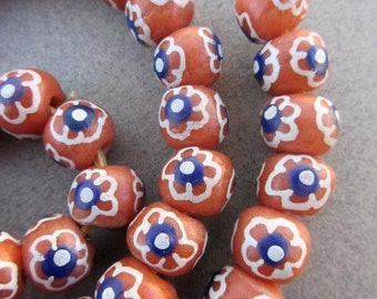 Krobo Glass Beads (12x10mm) [65986]