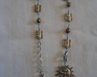 Sun and Moon Charm Book Thong/Bookmark