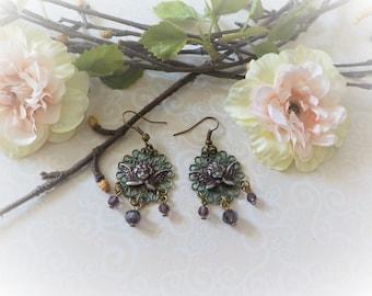 Art Nouveau Angel earrings