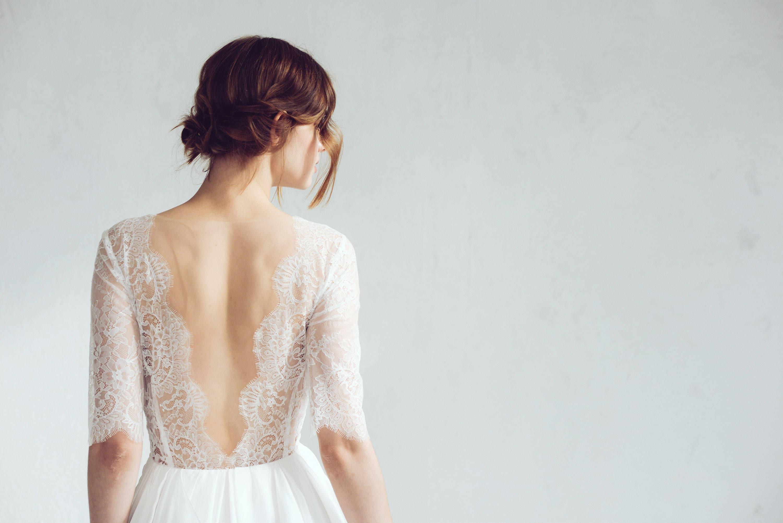 Spitze Hochzeitskleid / / Magnolia Seide erröten