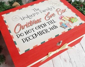 family christmas eve box, personalised Christmas eve box, christmas box, personalised crate, wooden Christmas box, Santa box, Xmas eve box