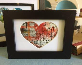 Love letter home vintage art heart painting heart art valentine picture