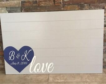 Wooden Pallet Rustic Alternative Love Wedding Guestbook