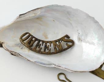Queen's Uniform Badge - Queen's Badge - Railway Badge - Transportiana - Gift for Him - Uniform Pin - Insignia Pin - Vintage Brooch