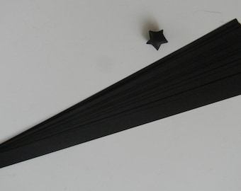 Black : Lucky Star Paper Strips (100)