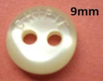8 Small buttons 9 mm cream White (5677) white button