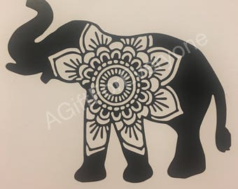 Mandala Elephant Decal