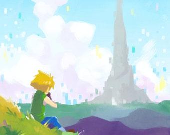Lonely Adventure Matt | digivice, digimon poster, digimon print, digimon art, anime poster, anime print, video game print, digimon adventure