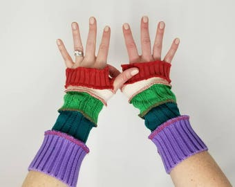 OOAK clothing, Arm warmers, Texting gloves, fingerless arm warmers, upcycled sweaters, wrist warmers, upcycled gloves, UCCCTeamSellers