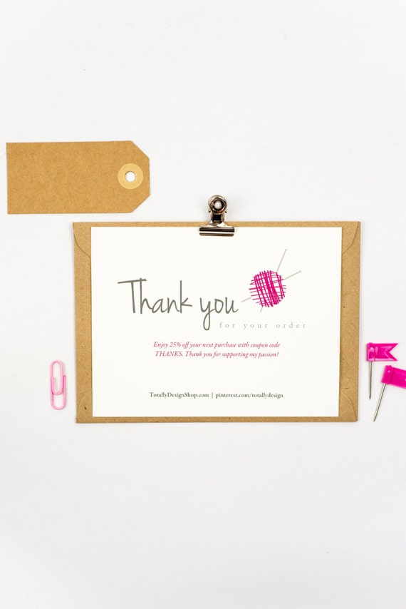 Printable Thank You Cards INSTANT DOWNLOAD Cozily Knit
