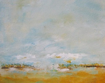 Yellow Gold Landscape 8 x 10 Giclee Print, Matted to 11 x 14