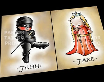 Customizable The Princess Bride Kewpies (Double Prints) Choose Your Option