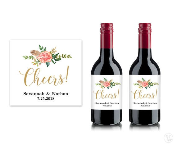 Bridal Shower Mini Wine Labels Printable Wine Bottle Label - Mini wine bottle labels templates