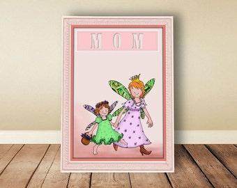 Digital download, instant download, printable art, Mother, mother's day, mother's gift, nursery art, mother's day gift, grandmother gift