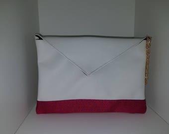 Clutch White Pink