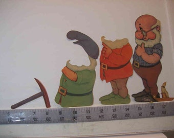 vintage Disney 7 Dwarfs paper dolls and Bambi pack